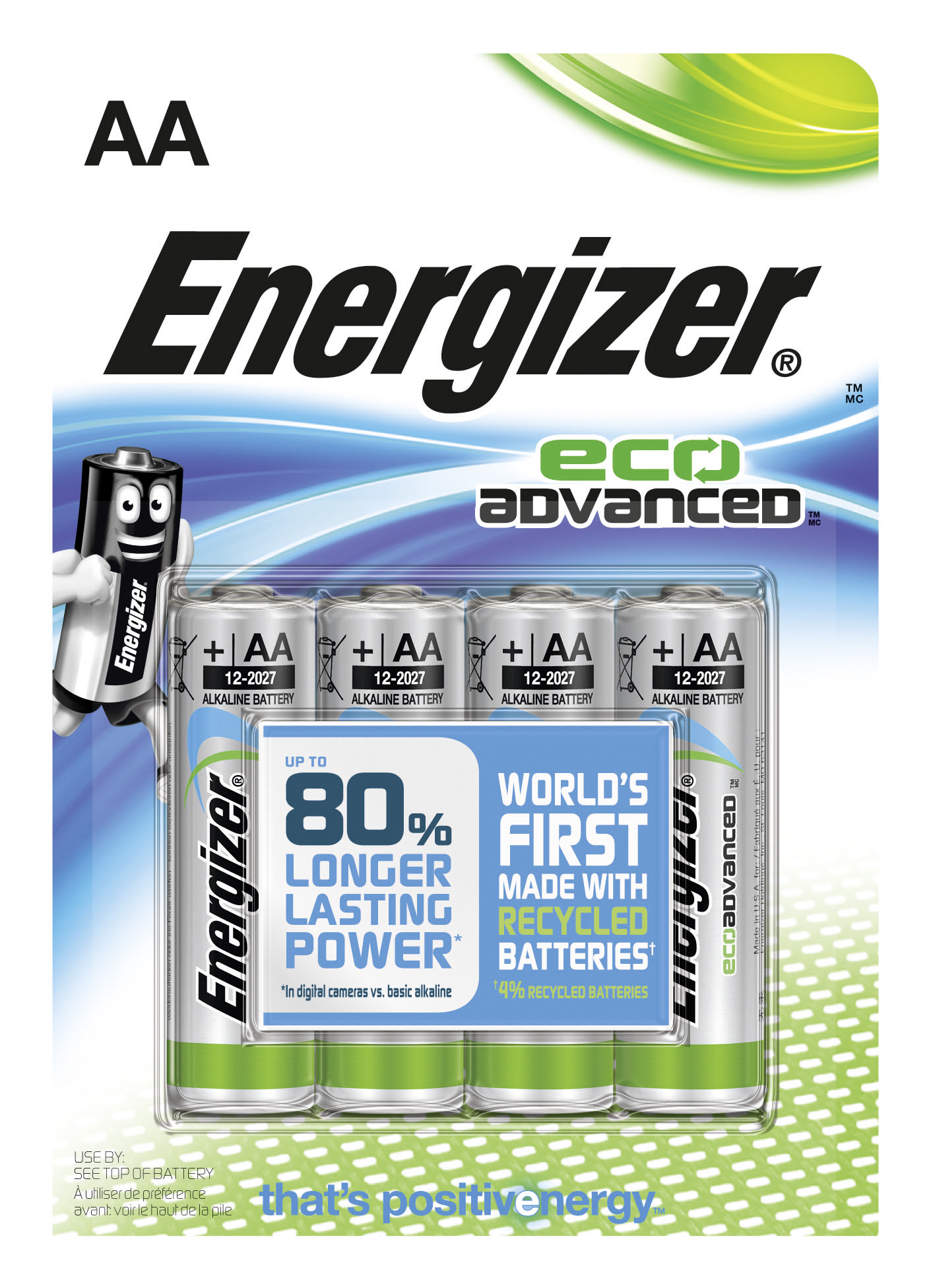 Energizer Eco Advanced Recycle battery AA 4%